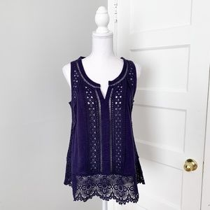 Meadow Rue by Anthro | Cotton Ladder Lace Tank